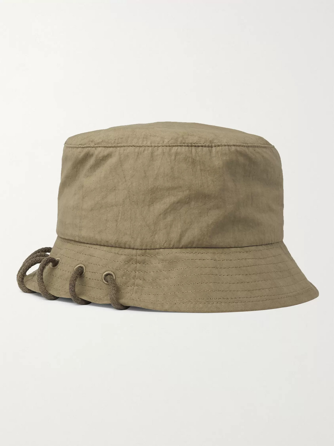 Craig Green Laced Cotton Bucket Hat In Green
