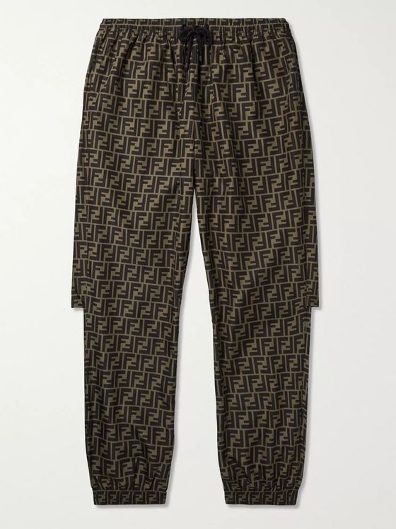 Fendi Logo-Print Tapered Shell Sweatpants