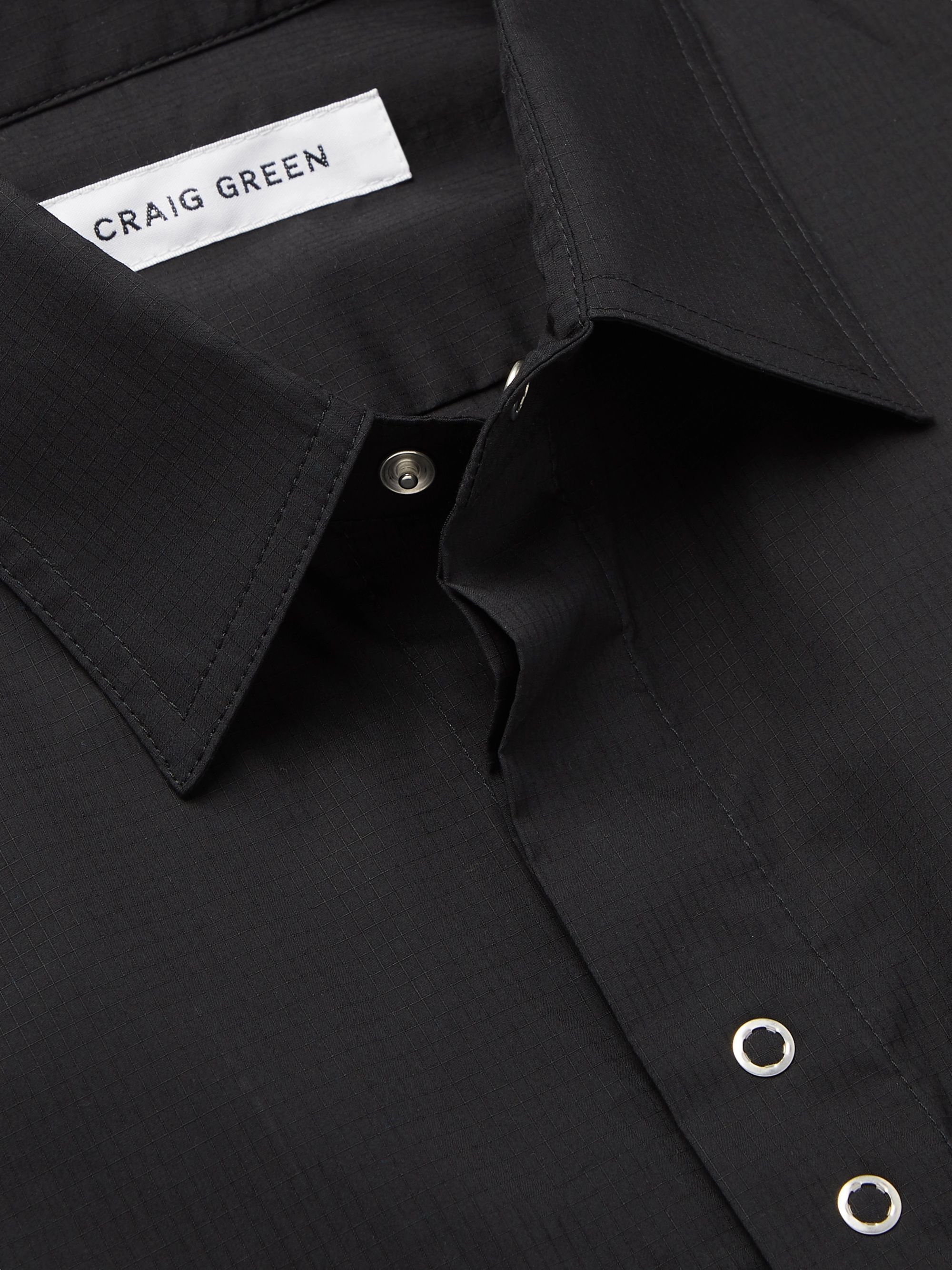 Black Cotton-ripstop Shirt | Craig Green