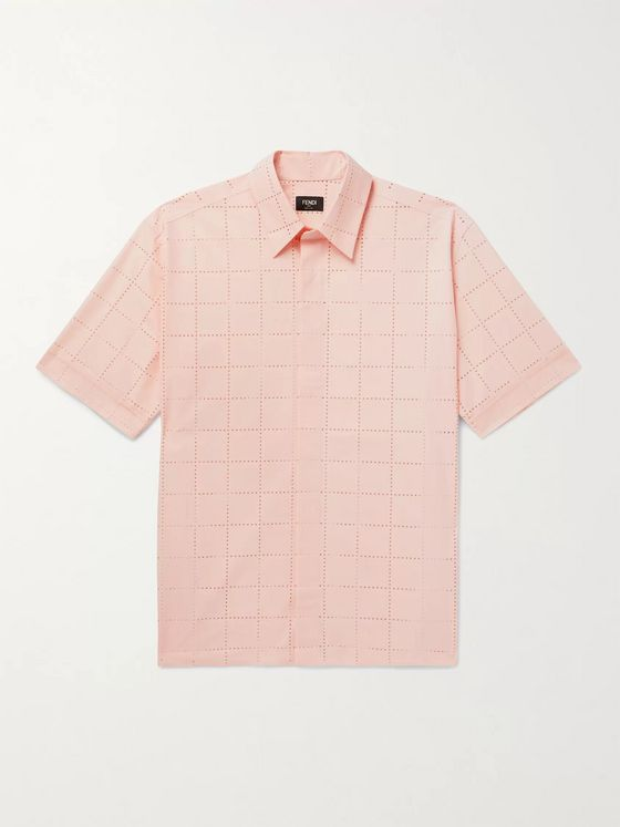 Fendi Perforated Cotton Shirt
