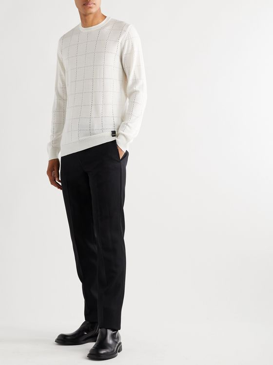 Fendi Perforated Wool Sweater
