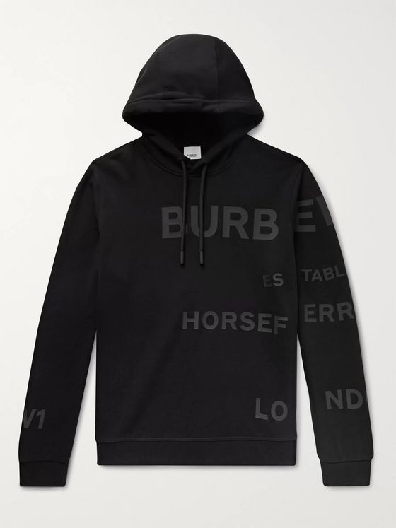 Burberry Logo-Appliquéd Loopback Cotton-Jersey Hoodie