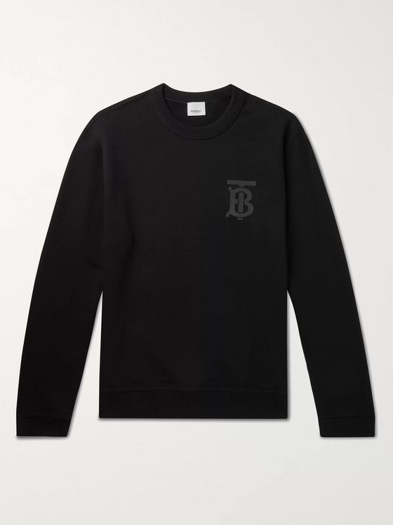 BURBERRY Logo-Print Loopback Cotton-Jersey Sweatshirt