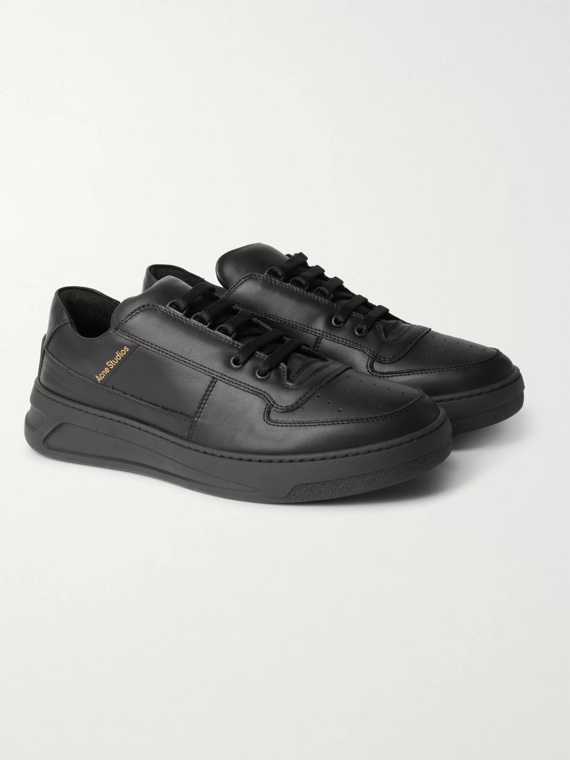 acne studios - leather sneakers - men - black