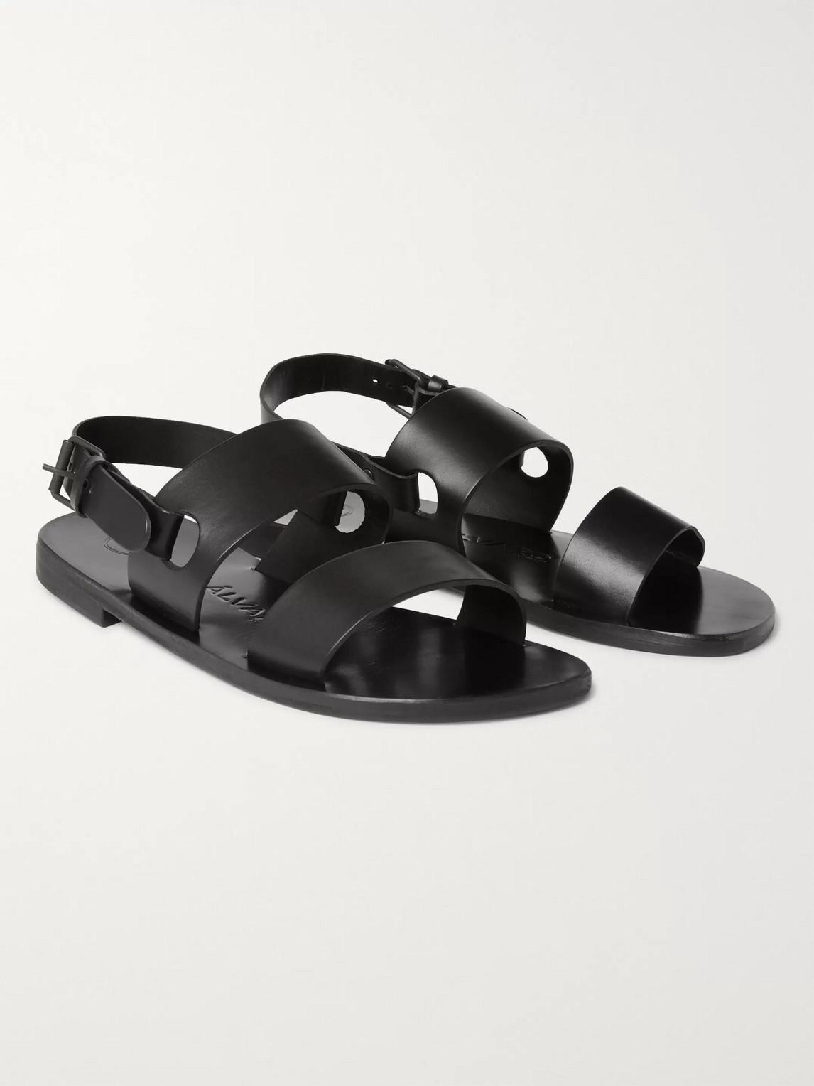 álvaro - alexander leather sandals - men - black