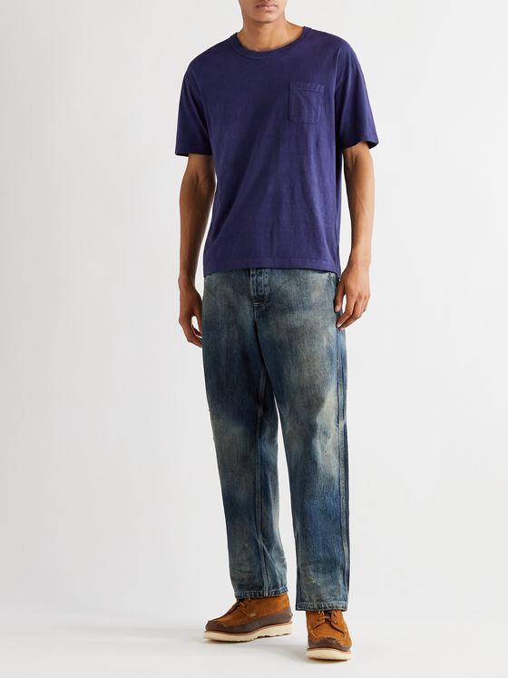 VISVIM Jumbo Garment-Dyed Cotton-Jersey T-Shirt