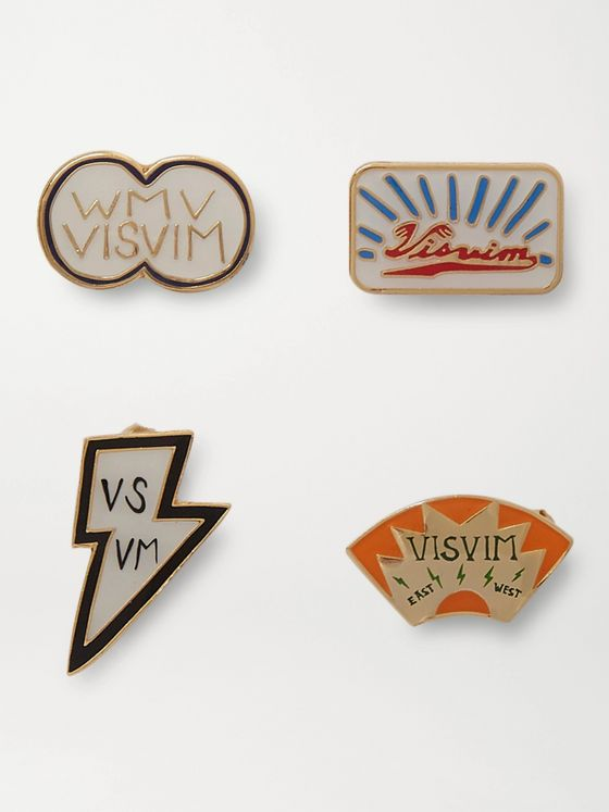 VISVIM Set of Four Enamel Pin Set