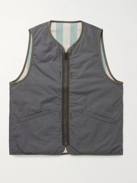 VISVIM Iris Reversible Padded Cotton-Canvas Gilet