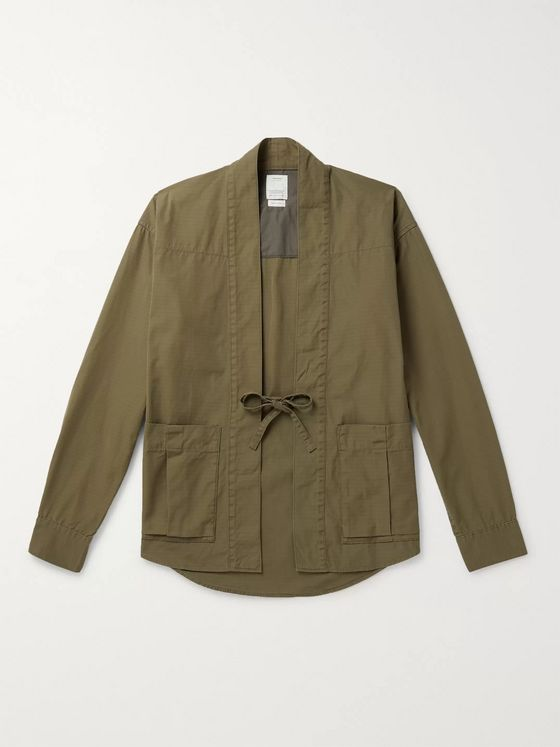 VISVIM Lhamo Cotton-Blend Canvas Shirt