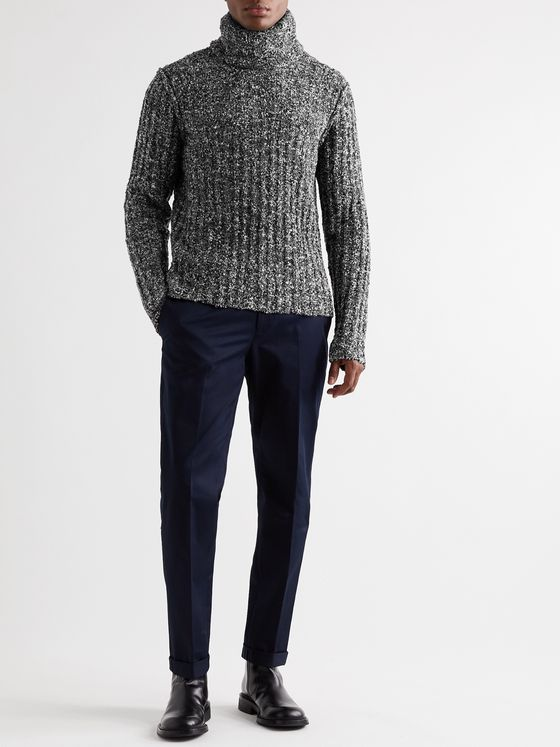 Dolce & Gabbana Slim-Fit Ribbed Virgin Wool-Blend Bouclé Rollneck Sweater