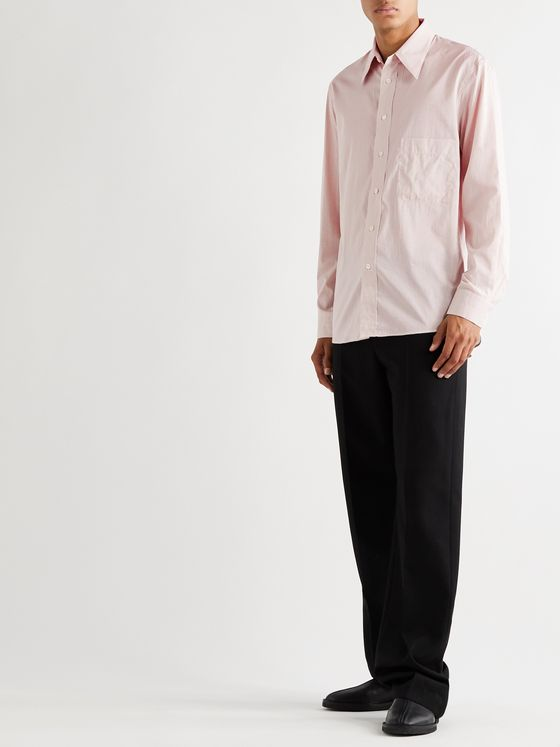 Lemaire Striped Cotton and Silk-Blend Shirt