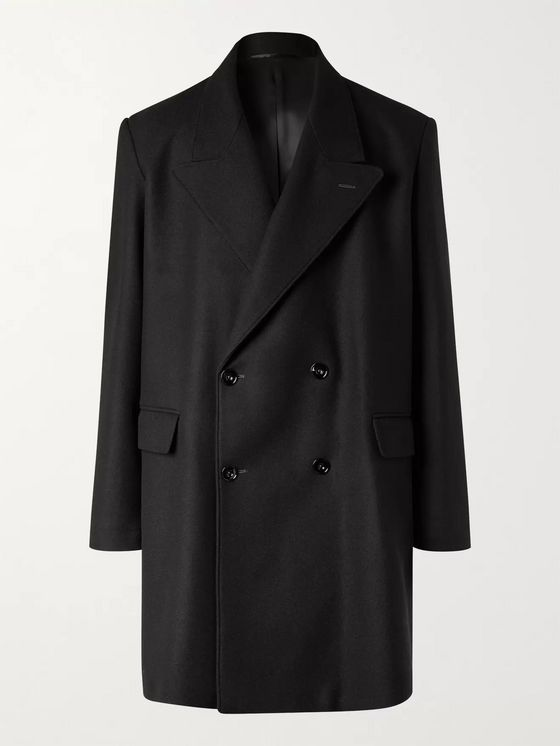 Lemaire Double-Breasted Wool-Blend Coat
