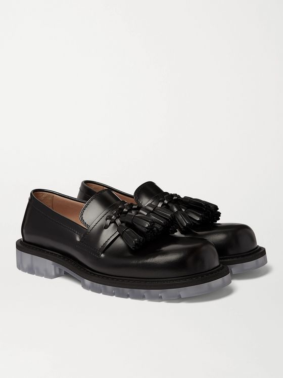 BOTTEGA VENETA Polished-Leather Tasselled Loafers