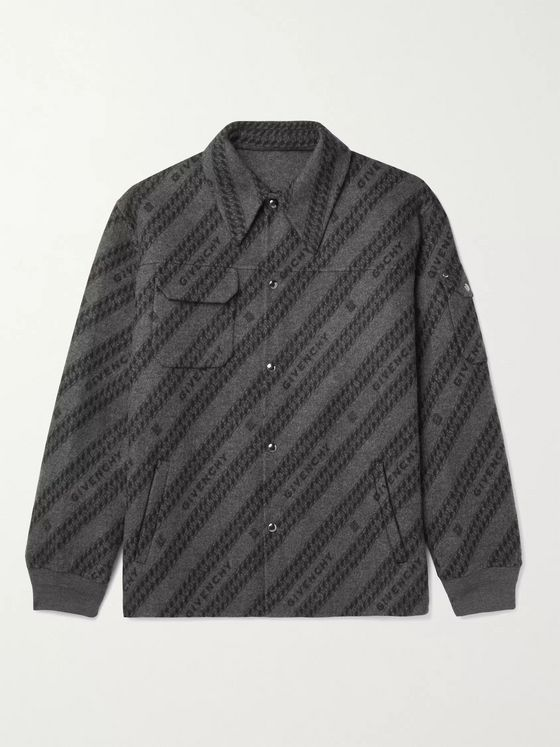 Givenchy Logo-Print Wool, Silk and Cashmere-Blend Blouson Jacket
