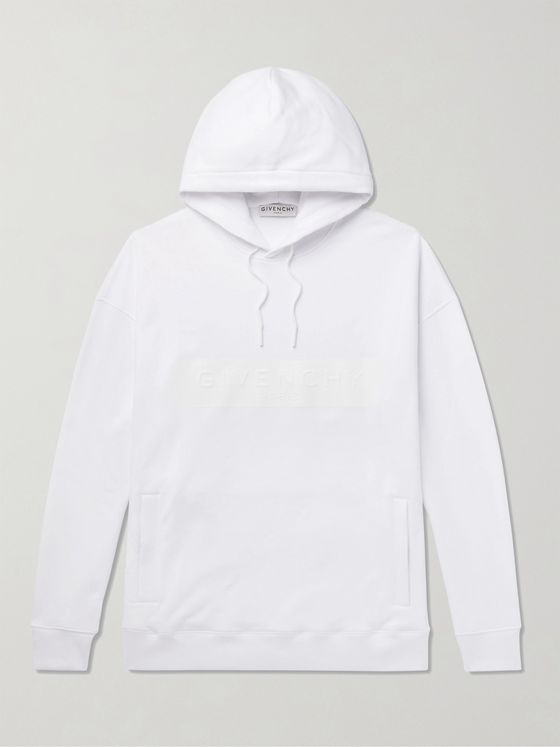 Givenchy Logo-Detailed Loopback Cotton-Jersey Hoodie