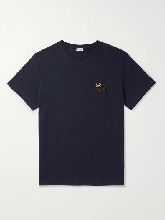 Loewe Logo-Embroidered Cotton-Jersey T-Shirt