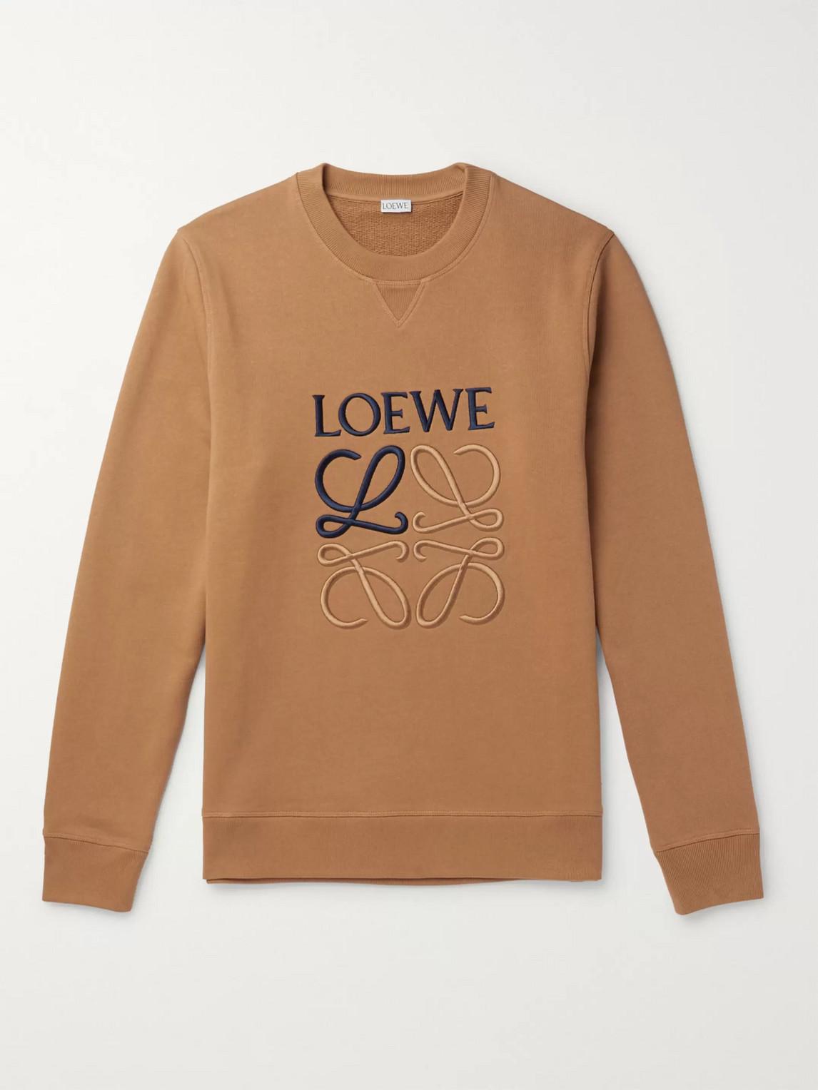 Loewe SLIM-FIT LOGO-EMBROIDERED LOOPBACK COTTON-JERSEY SWEATSHIRT