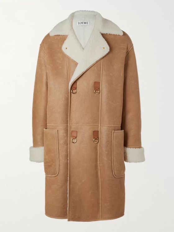 Loewe Double-Breasted Shearling Coat