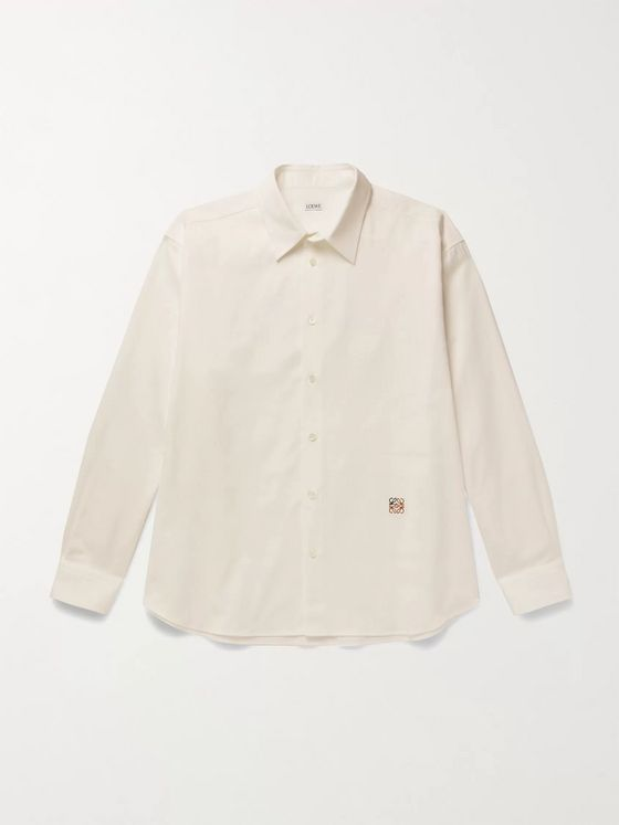Loewe Oversized Logo-Embroidered Cotton Oxford Shirt