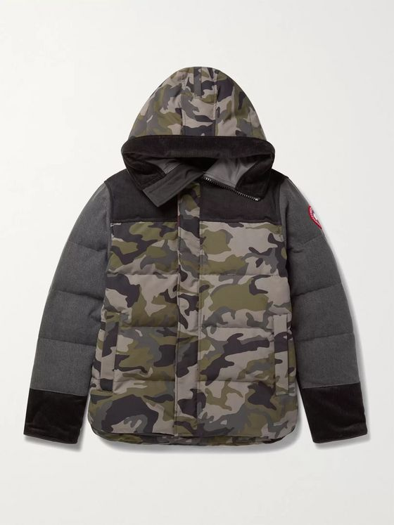 Junya Watanabe + Canada Goose Macmillan Quilted Shell, Denim and Corduroy Hooded Down Parka
