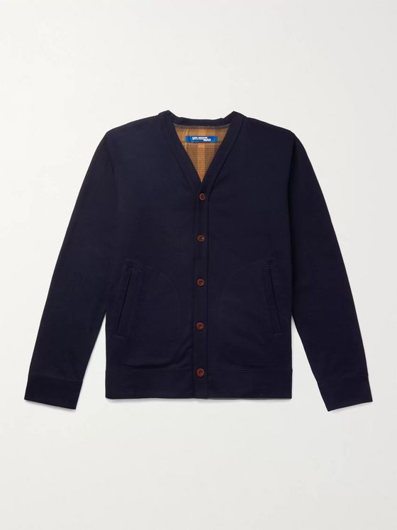 Junya Watanabe Quilted Padded Nylon-Panelled Cotton and Wool-Blend Cardigan