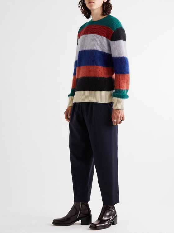 Marni Striped Mohair and Virgin Wool-Blend Sweater