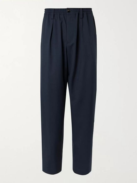 Marni Tapered Pleated Virgin Wool Trousers