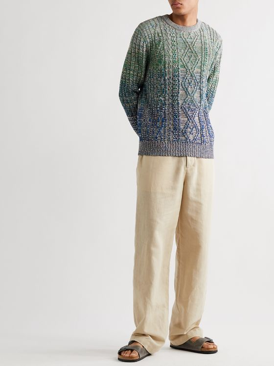 Missoni Cable-Knit Mélange Wool-Blend Sweater