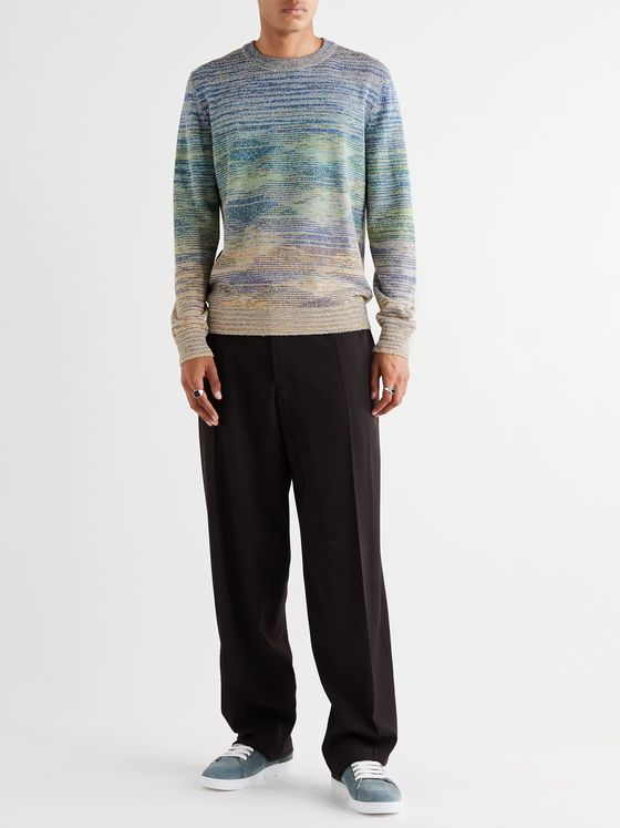 Missoni Slim-Fit Striped Cotton-Blend Sweater