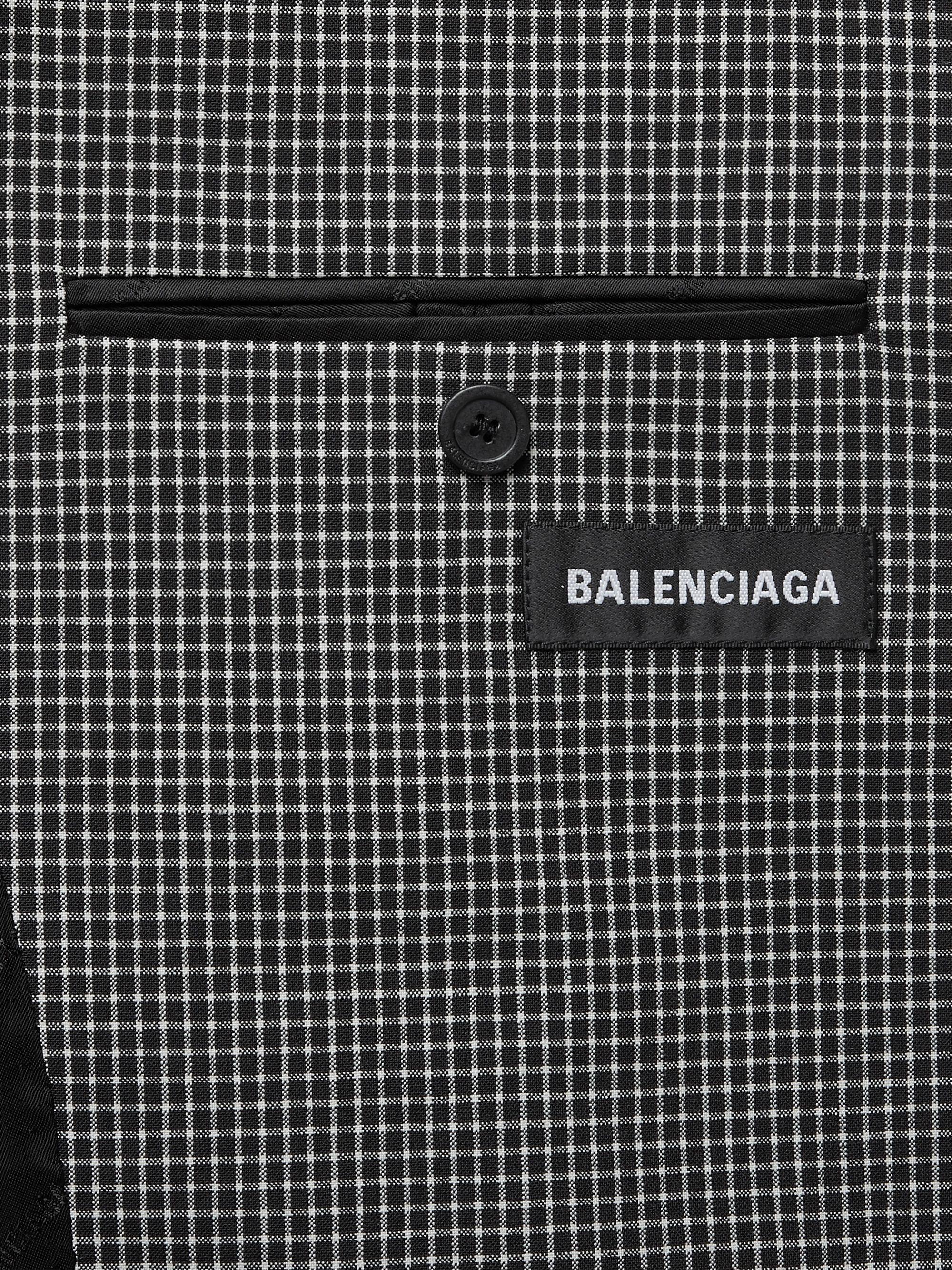 Multi Oversized Checked Wool-blend Blazer   Balenciaga