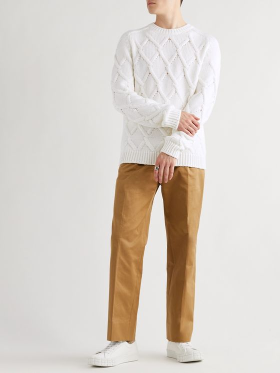 Prada Cable-Knit Virgin Wool Sweater