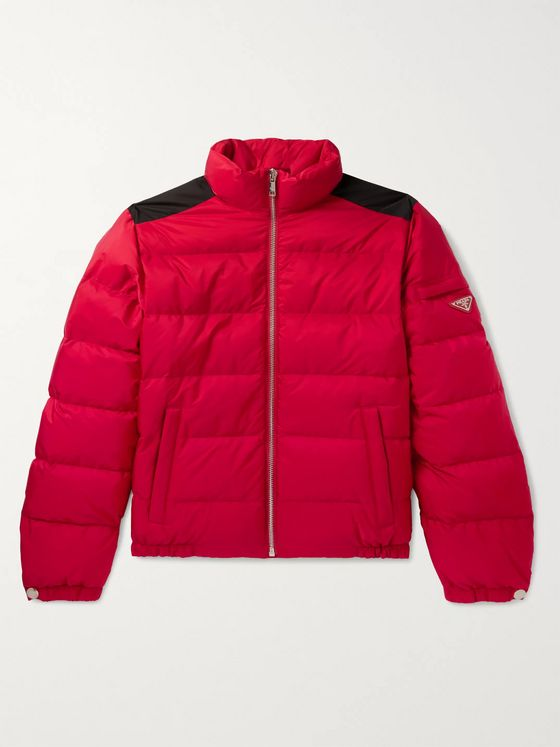 Prada Logo-Appliquéd Quilted Nylon Down Jacket