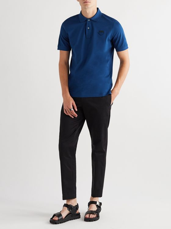 Prada Slim-Fit Cotton-Piqué Polo Shirt