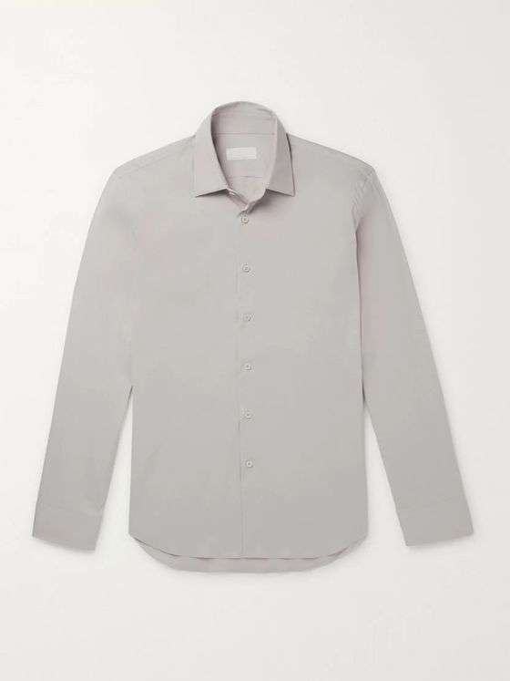 Prada Slim-Fit Cotton-Blend Poplin Shirt