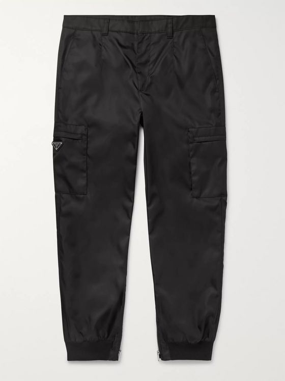 Prada Tapered Logo-Appliquéd Nylon-Gabardine Cargo Trousers