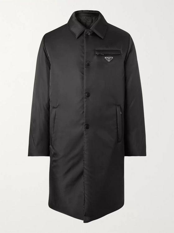 Prada Padded Coated-Shell Coat