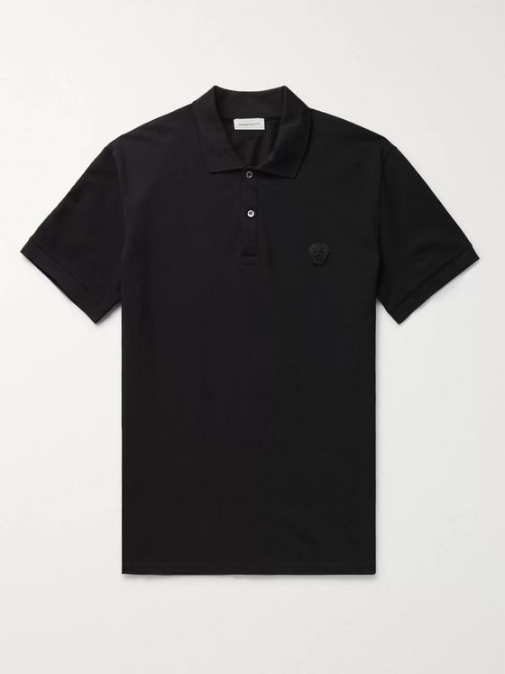 ALEXANDER MCQUEEN Logo-Appliquéd Cotton-Piqué Polo Shirt