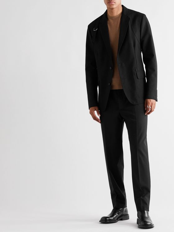 ALEXANDER MCQUEEN Harness-Detailed Cotton Blazer