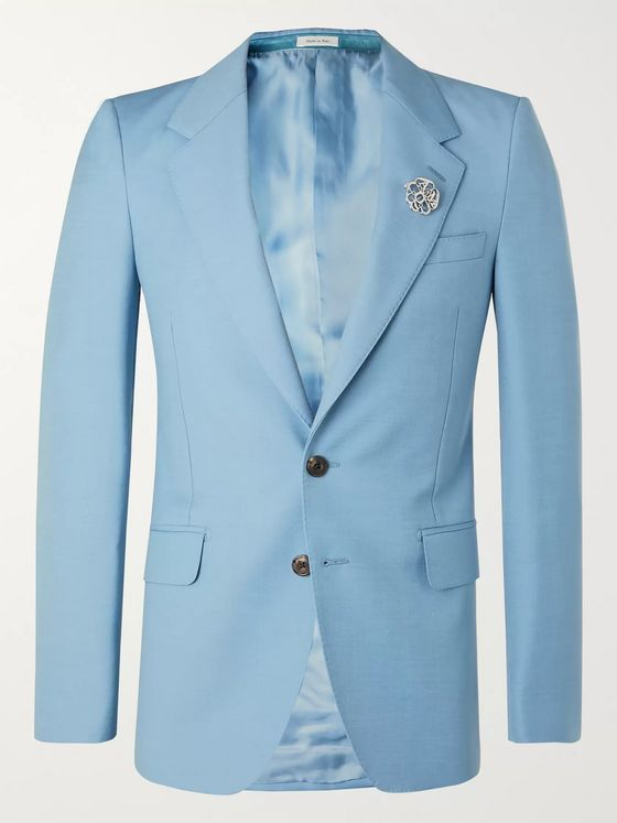 Alexander McQueen Slim-Fit Wool and Mohair-Blend Blazer
