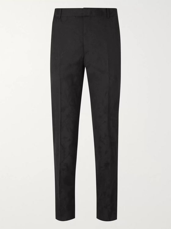 ALEXANDER MCQUEEN Slim-Fit Wool-Jacquard Suit Trousers