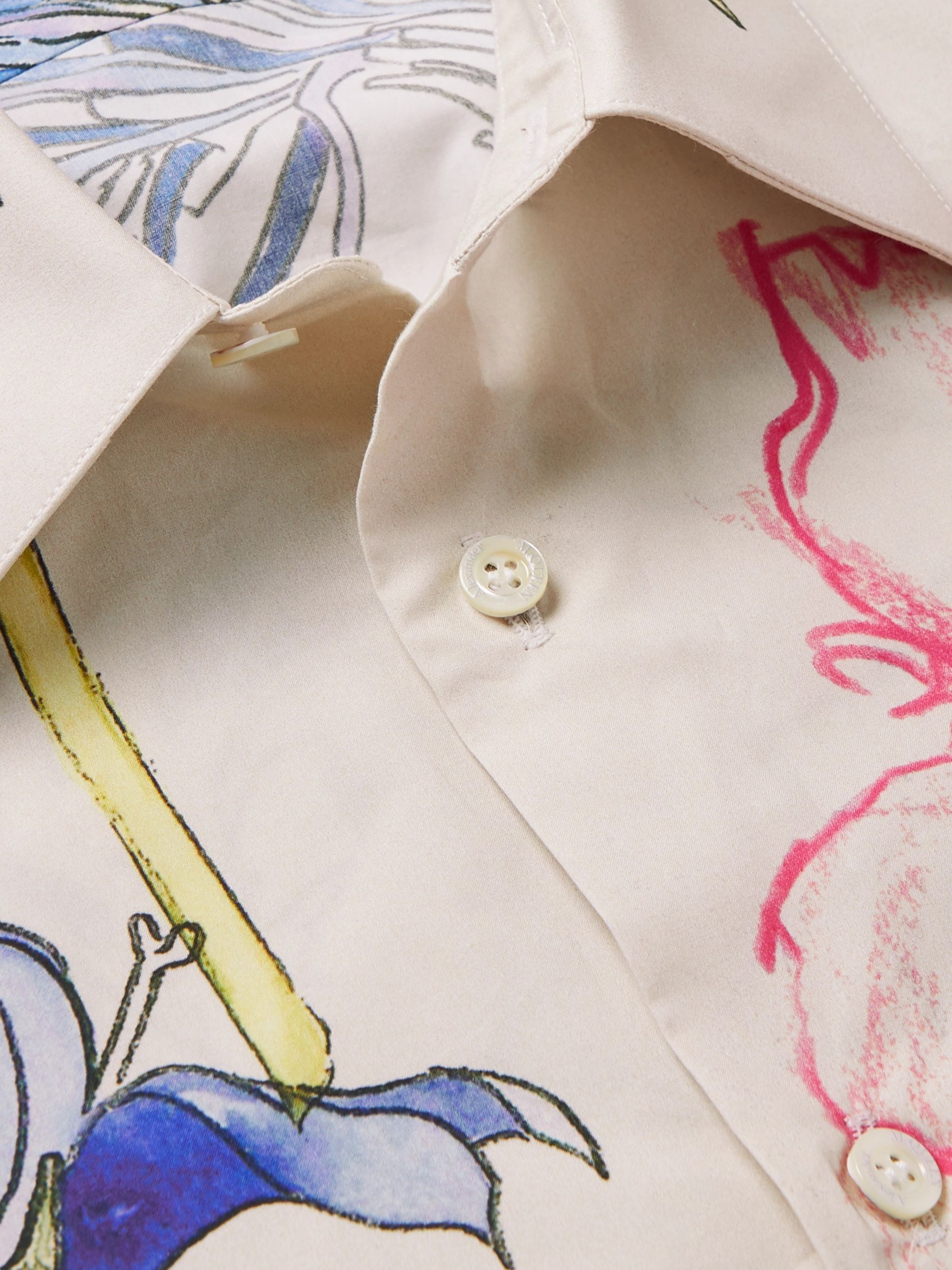Alexander McQueen Slim-Fit Floral-Print Cotton-Poplin Shirt