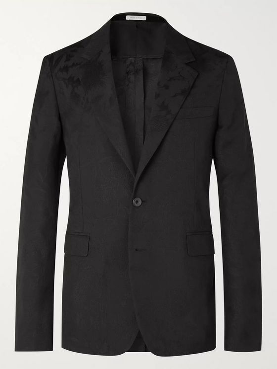 Alexander McQueen Slim-Fit Wool-Jacquard Suit Jacket