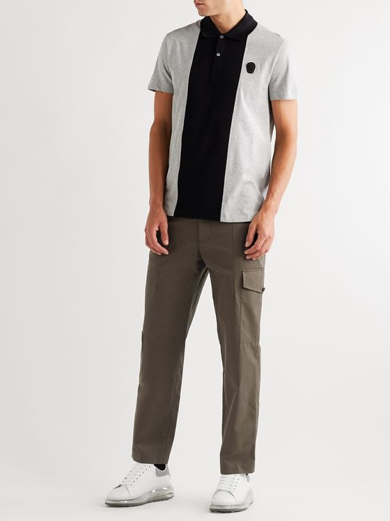 Alexander McQueen Tapered Cotton-Gabardine Trousers
