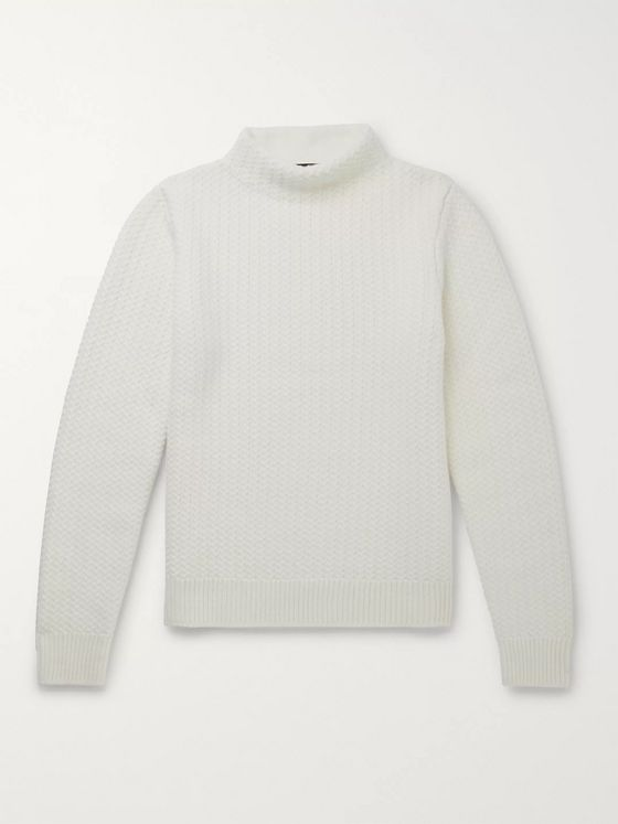 Dolce & Gabbana Cable-Knit Virgin Wool Sweater