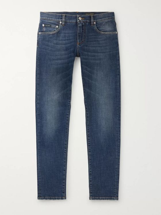DOLCE & GABBANA Slim-Leg Stretch-Denim Jeans