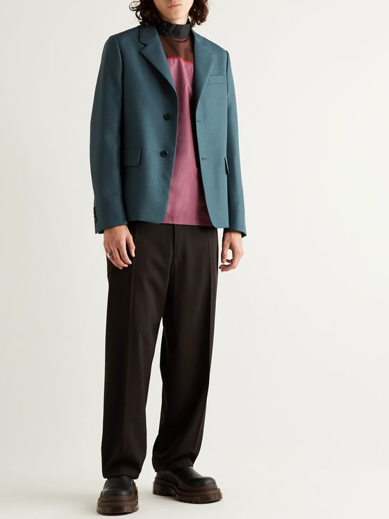Prada Wool and Mohair-Blend Blazer