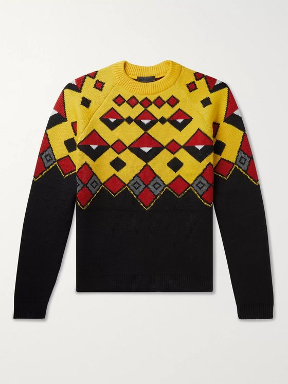 Prada Intarsia Wool Sweater