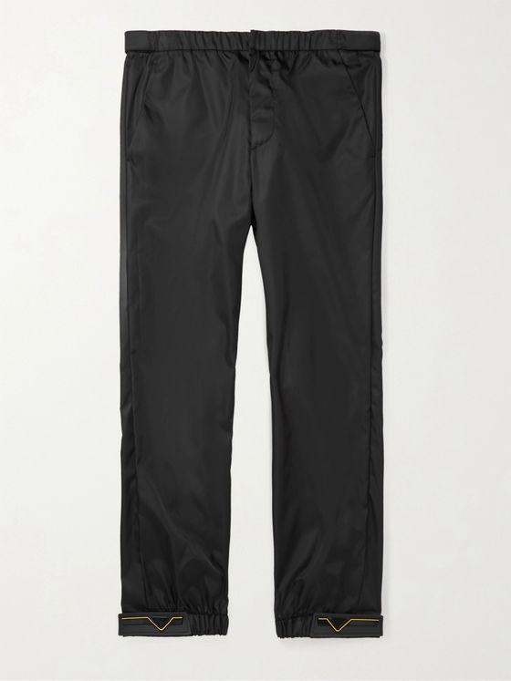 Prada Rubber-Trimmed Coated Nylon-Gabardine Trousers