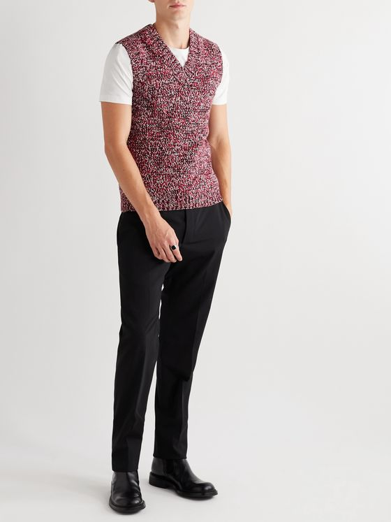 Prada Slim-Fit Virgin Wool and Cashmere-Blend Sweater Vest