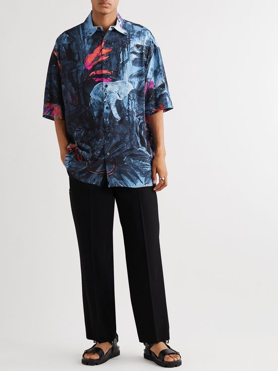 Valentino Oversized Printed Voile Shirt